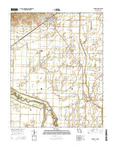 Campbell Missouri Current topographic map, 1:24000 scale, 7.5 X 7.5 Minute, Year 2015
