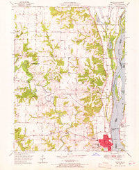 Canton Missouri Historical topographic map, 1:24000 scale, 7.5 X 7.5 Minute, Year 1950
