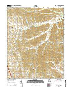 Cape Girardeau NE Missouri Current topographic map, 1:24000 scale, 7.5 X 7.5 Minute, Year 2015