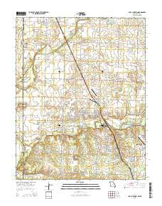 Carl Junction Missouri Current topographic map, 1:24000 scale, 7.5 X 7.5 Minute, Year 2015