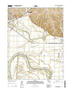 Carrollton East Missouri Current topographic map, 1:24000 scale, 7.5 X 7.5 Minute, Year 2015