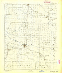 Carthage Missouri Historical topographic map, 1:125000 scale, 30 X 30 Minute, Year 1886