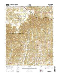 Cedar Gap Missouri Current topographic map, 1:24000 scale, 7.5 X 7.5 Minute, Year 2015