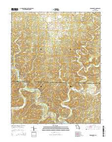 Cedargrove Missouri Current topographic map, 1:24000 scale, 7.5 X 7.5 Minute, Year 2015