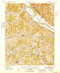 Centertown Missouri Historical topographic map, 1:62500 scale, 15 X 15 Minute, Year 1949