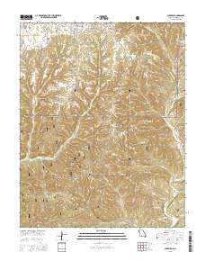 Chadwick Missouri Current topographic map, 1:24000 scale, 7.5 X 7.5 Minute, Year 2015
