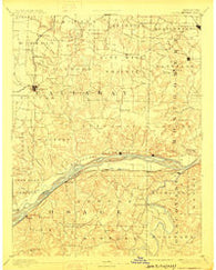 Chamois Missouri Historical topographic map, 1:125000 scale, 30 X 30 Minute, Year 1890