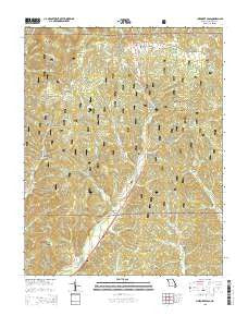 Cherokee Pass Missouri Current topographic map, 1:24000 scale, 7.5 X 7.5 Minute, Year 2015