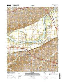 Chesterfield Missouri Current topographic map, 1:24000 scale, 7.5 X 7.5 Minute, Year 2015