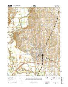 Chillicothe Missouri Current topographic map, 1:24000 scale, 7.5 X 7.5 Minute, Year 2015