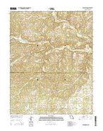 Clear Springs Missouri Current topographic map, 1:24000 scale, 7.5 X 7.5 Minute, Year 2015 from Missouri Map Store