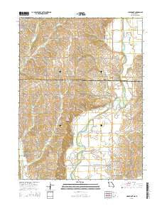 Clearmont Missouri Current topographic map, 1:24000 scale, 7.5 X 7.5 Minute, Year 2015