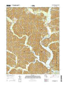 Clearwater Dam Missouri Current topographic map, 1:24000 scale, 7.5 X 7.5 Minute, Year 2015