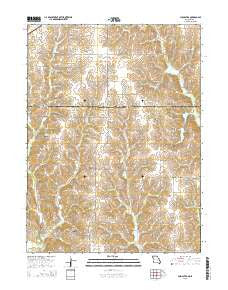 Cleopatra Missouri Current topographic map, 1:24000 scale, 7.5 X 7.5 Minute, Year 2015