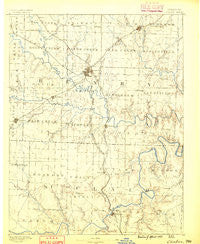 Clinton Missouri Historical topographic map, 1:125000 scale, 30 X 30 Minute, Year 1887