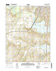 Clinton South Missouri Current topographic map, 1:24000 scale, 7.5 X 7.5 Minute, Year 2015 from Missouri Maps Store