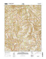 Cliquot Missouri Current topographic map, 1:24000 scale, 7.5 X 7.5 Minute, Year 2015 from Missouri Maps Store