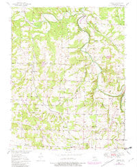 Cliquot Missouri Historical topographic map, 1:24000 scale, 7.5 X 7.5 Minute, Year 1950