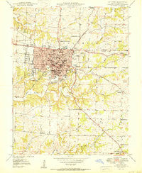 Columbia Missouri Historical topographic map, 1:24000 scale, 7.5 X 7.5 Minute, Year 1950