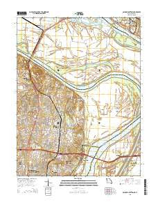 Columbia Bottom Missouri Current topographic map, 1:24000 scale, 7.5 X 7.5 Minute, Year 2015