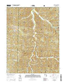 Courtois Missouri Current topographic map, 1:24000 scale, 7.5 X 7.5 Minute, Year 2015