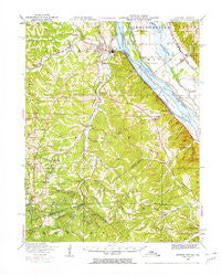 Crystal City Missouri Historical topographic map, 1:62500 scale, 15 X 15 Minute, Year 1949
