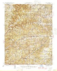 Cureall Missouri Historical topographic map, 1:62500 scale, 15 X 15 Minute, Year 1946