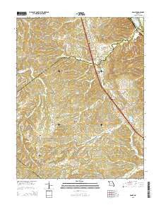 Danby Missouri Current topographic map, 1:24000 scale, 7.5 X 7.5 Minute, Year 2015