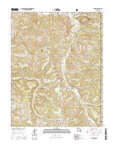 Dawson Missouri Current topographic map, 1:24000 scale, 7.5 X 7.5 Minute, Year 2015