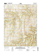 Dederick Missouri Current topographic map, 1:24000 scale, 7.5 X 7.5 Minute, Year 2015 from Missouri Map Store