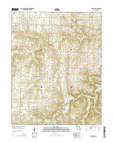 Dederick Missouri Current topographic map, 1:24000 scale, 7.5 X 7.5 Minute, Year 2015