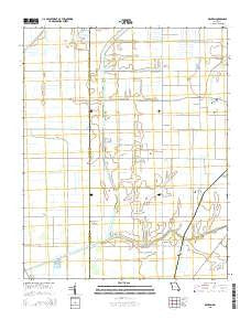 Denton Missouri Current topographic map, 1:24000 scale, 7.5 X 7.5 Minute, Year 2015