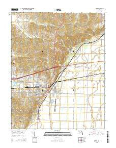 Dexter Missouri Current topographic map, 1:24000 scale, 7.5 X 7.5 Minute, Year 2015