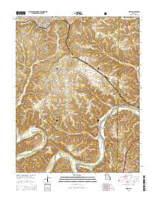 Dixon Missouri Current topographic map, 1:24000 scale, 7.5 X 7.5 Minute, Year 2015