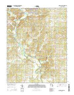 Doniphan South Missouri Current topographic map, 1:24000 scale, 7.5 X 7.5 Minute, Year 2015 from Missouri Map Store