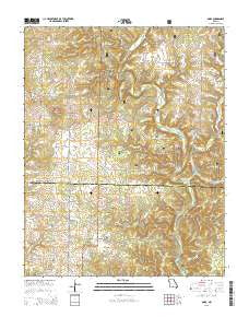 Dora Missouri Current topographic map, 1:24000 scale, 7.5 X 7.5 Minute, Year 2015