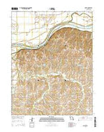 Dover Missouri Current topographic map, 1:24000 scale, 7.5 X 7.5 Minute, Year 2015 from Missouri Map Store