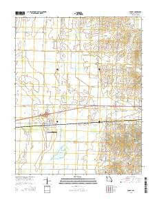Dudley Missouri Current topographic map, 1:24000 scale, 7.5 X 7.5 Minute, Year 2015