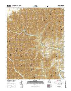 Eagle Rock Missouri Current topographic map, 1:24000 scale, 7.5 X 7.5 Minute, Year 2015