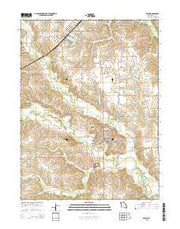 Edina Missouri Current topographic map, 1:24000 scale, 7.5 X 7.5 Minute, Year 2015 from Missouri Maps Store