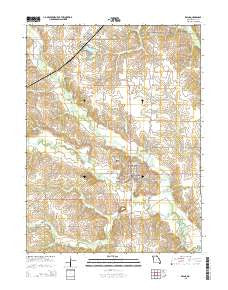Edina Missouri Current topographic map, 1:24000 scale, 7.5 X 7.5 Minute, Year 2015