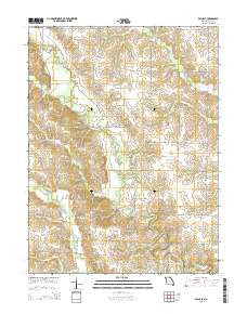 Edina SE Missouri Current topographic map, 1:24000 scale, 7.5 X 7.5 Minute, Year 2015