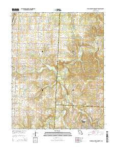 El Dorado Springs North Missouri Current topographic map, 1:24000 scale, 7.5 X 7.5 Minute, Year 2015