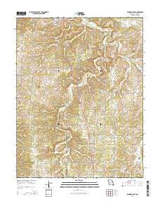 Eldridge East Missouri Current topographic map, 1:24000 scale, 7.5 X 7.5 Minute, Year 2015