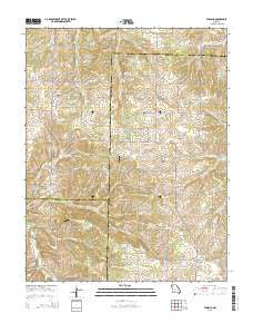 Elkland Missouri Current topographic map, 1:24000 scale, 7.5 X 7.5 Minute, Year 2015