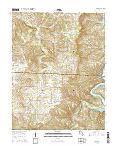 Elkton Missouri Current topographic map, 1:24000 scale, 7.5 X 7.5 Minute, Year 2015