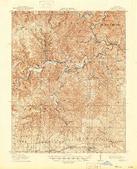 Eminence Missouri Historical topographic map, 1:62500 scale, 15 X 15 Minute, Year 1917