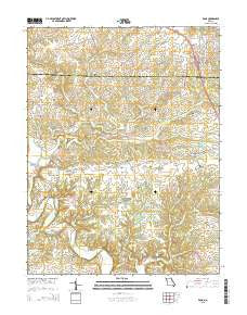 Eolia Missouri Current topographic map, 1:24000 scale, 7.5 X 7.5 Minute, Year 2015
