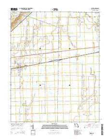 Essex Missouri Current topographic map, 1:24000 scale, 7.5 X 7.5 Minute, Year 2015