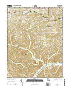 Eugene Missouri Current topographic map, 1:24000 scale, 7.5 X 7.5 Minute, Year 2015